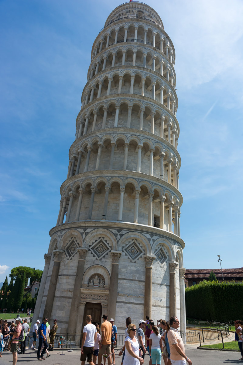 Pisa, Toscana - a Torre Pendente, a Dóm harangtornya
