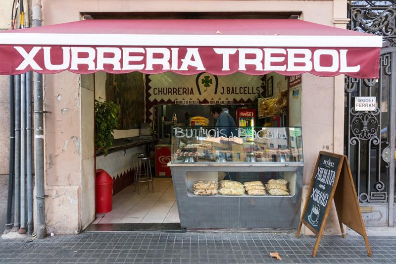 Barcelona legjobb, leghíresebb churreria-ja, a Trebol