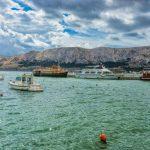 Baska, Croatia - felhők és hajók
