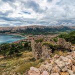Baska, Croatia - a Kastel Baska romjai