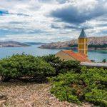 Baska, Croatia - kápolna a hegy tetején