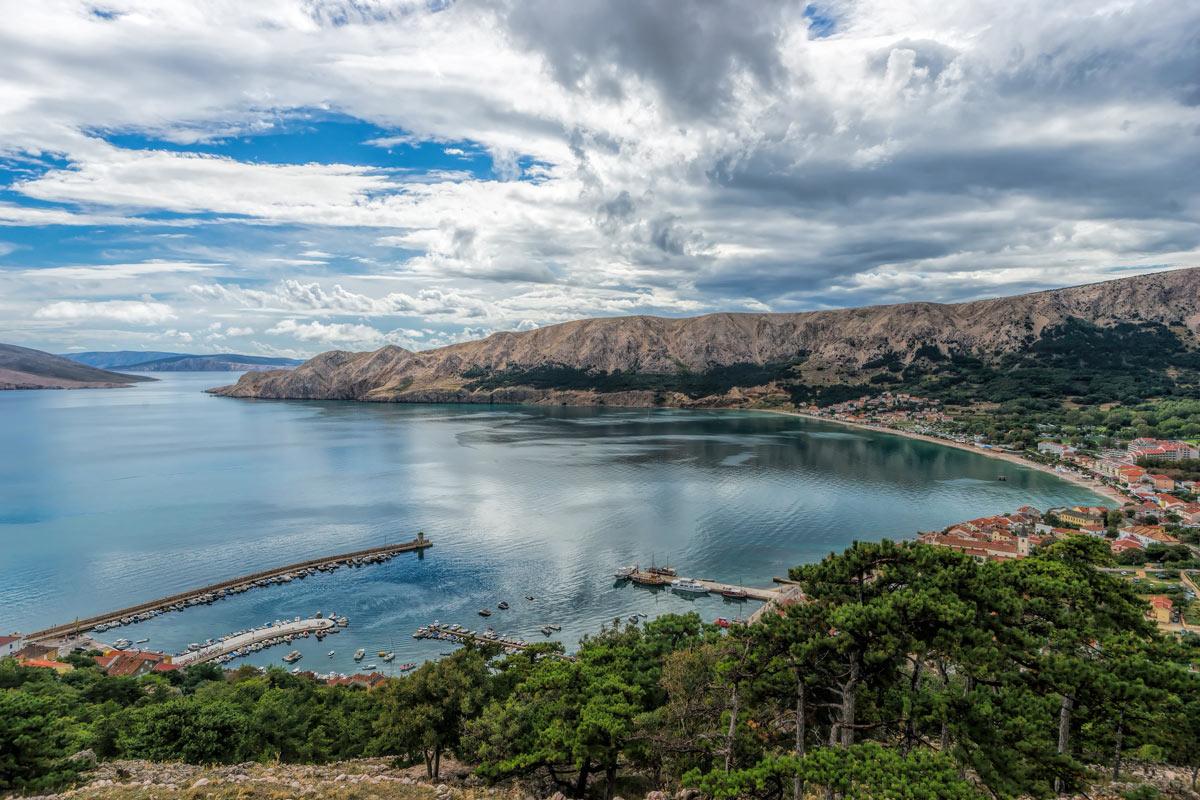 Baska, Croatia - az öböl fentről
